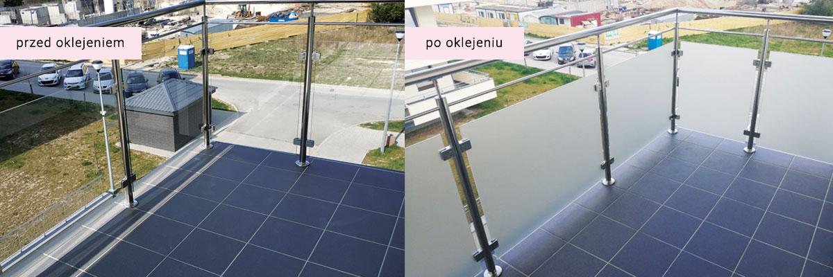 Oklejanie balkonów przed i po efekt