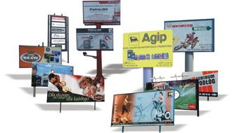 Tablice reklamowe na stalowej konstrukcji Lublin