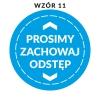 naklejka_zachowaj-odstep-wzor-11